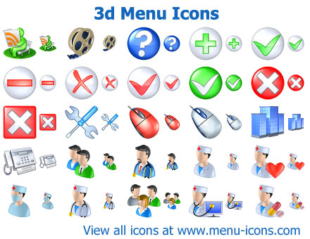 menu clipart, menu icons, cool icons, navigation icon set, icon collection, web 2.0 icons, interface icons, ui icons,icons,menu,icon design, 3d icons, 3d design