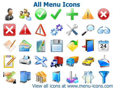 Menu icons