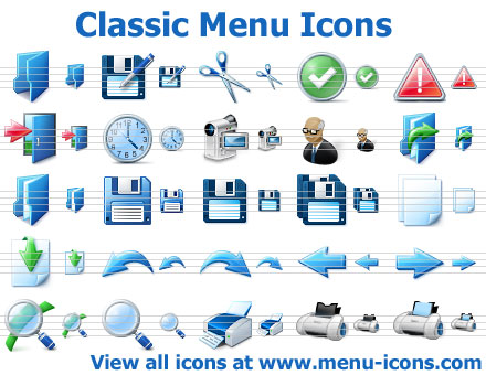 Click to view Classic Menu Icons 2013.1 screenshot