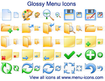 Glossy Menu Icons full screenshot