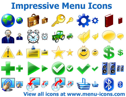 Click to view Impressive Menu Icons screenshots
