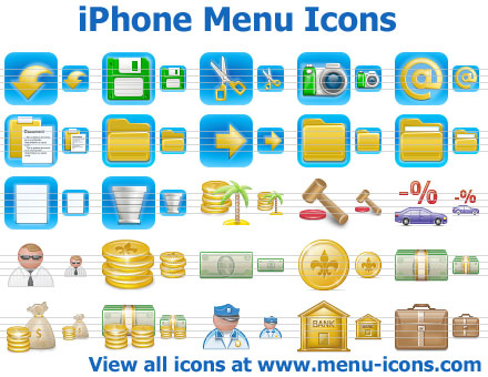 iPhone Menu Icons