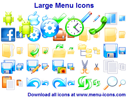 Large Menu Icons software screenshot