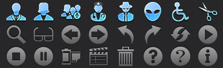 Menu Bar iOS Icons