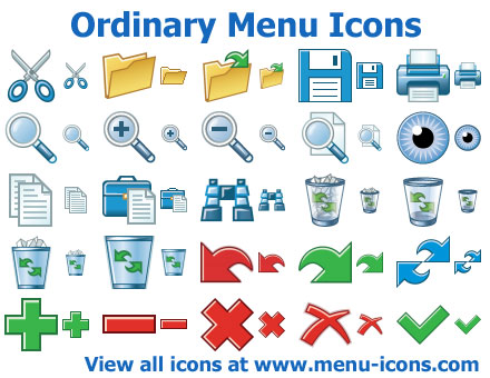 Click to view Ordinary Menu Icons 2011.1 screenshot