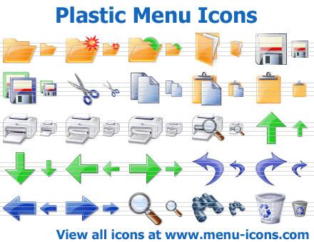 Plastic Menu Icons