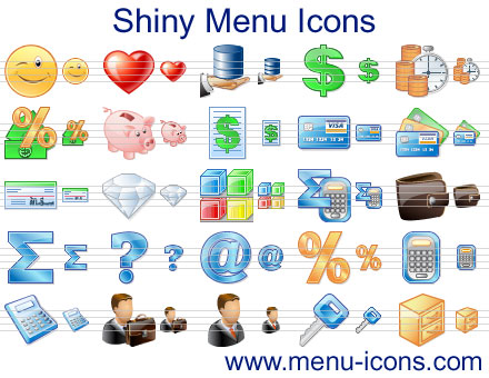 Windows 7 Shiny Menu Icons 2013 full