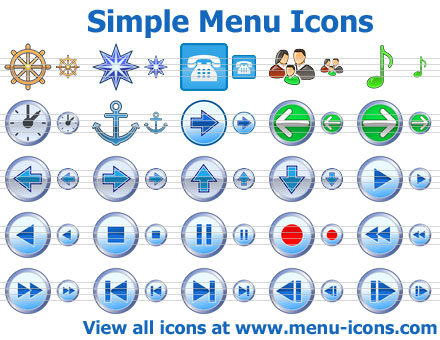 Simple Menu Icons