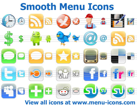 Click to view Smooth Menu Icons screenshots