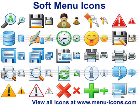 Click to view Soft Menu Icons 2013 screenshot