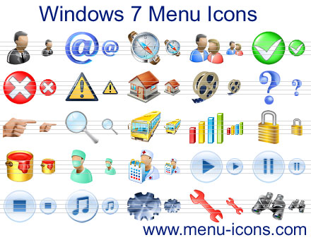 Click to view Windows 7 Menu Icons screenshots
